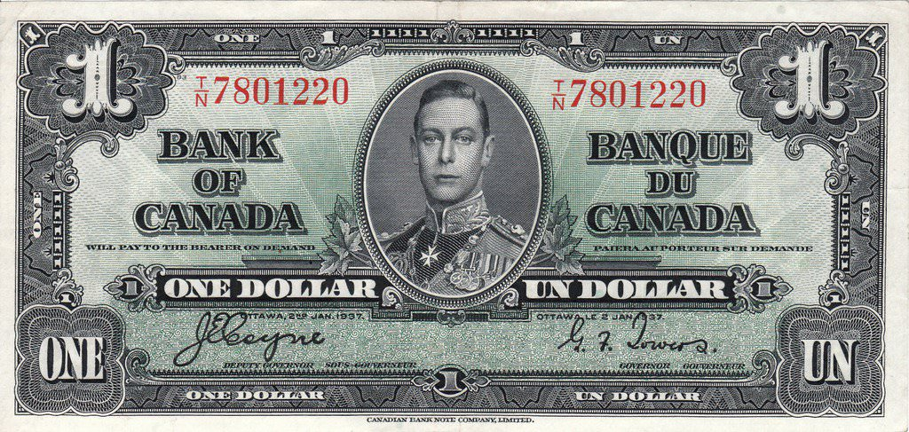 1 Canadian Dollar Currencies Of The World